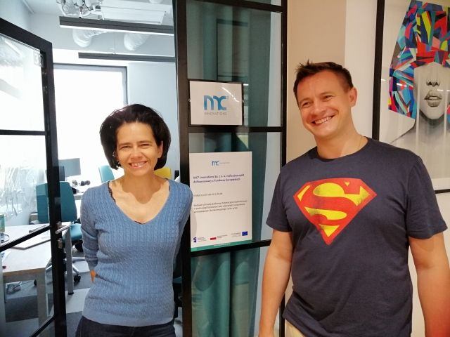 Anna Streżyńska i Arkadiusz Szczebiot, CTO MC2 Innovations (fot. mat. pras.)