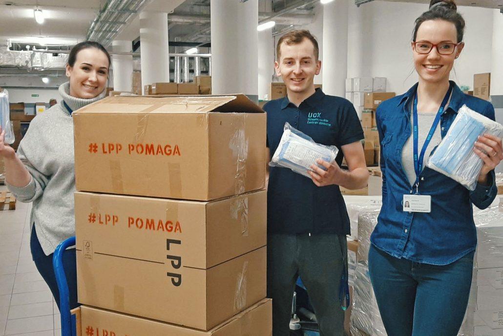 Gdy w Polsce zaczęła wzrastać liczba zakażonych koronawirusem, LPP zdecydowało się na sprowadzenie i dystrybucję środków ochrony do placówek medycznych i nie tylko. Fot. mat. pras.