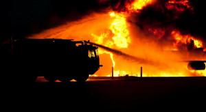 Pożar w fabryce części samochodowych w pobliżu granicy z Polską