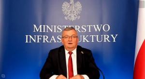Minister infrastruktury: polskie budowy i inwestycje muszą dalej funkcjonować