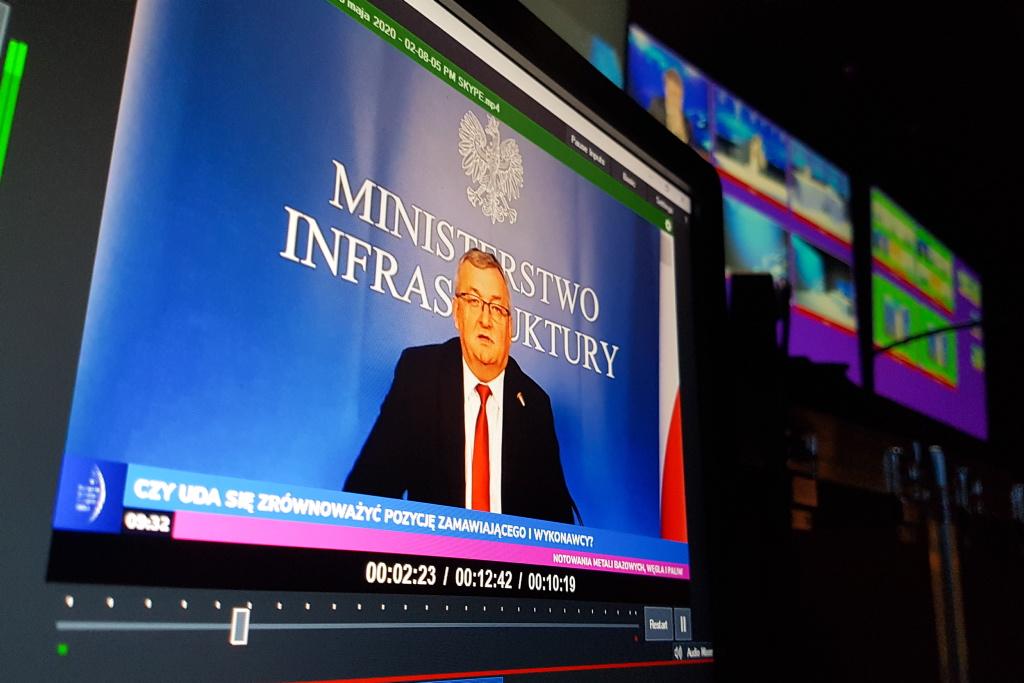 Andrzej Adamczyk podczas EEC Online. Fot. PTWP