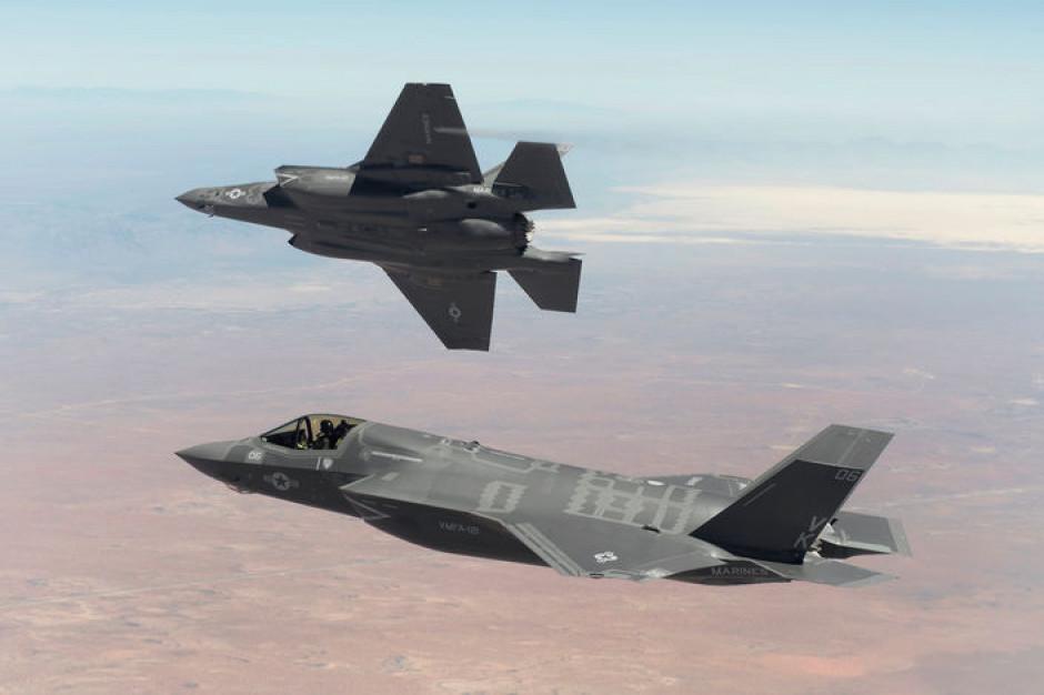 MON zaznacza, że nie zrezygnuje z zakupu F-35. Jak dotąd nie są prowadzone negocjacje w sprawie przełożenia płatności rat za te samoloty, fot. Lockheed Martin