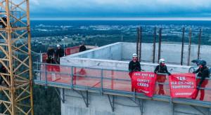 Aktywiści Greenpeace weszli na budowę Elektrowni Ostrołęka C