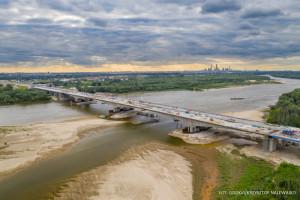 Finiszuje budowa odcinka ekspresowej obwodnicy Warszawy z mostem przez Wisłę