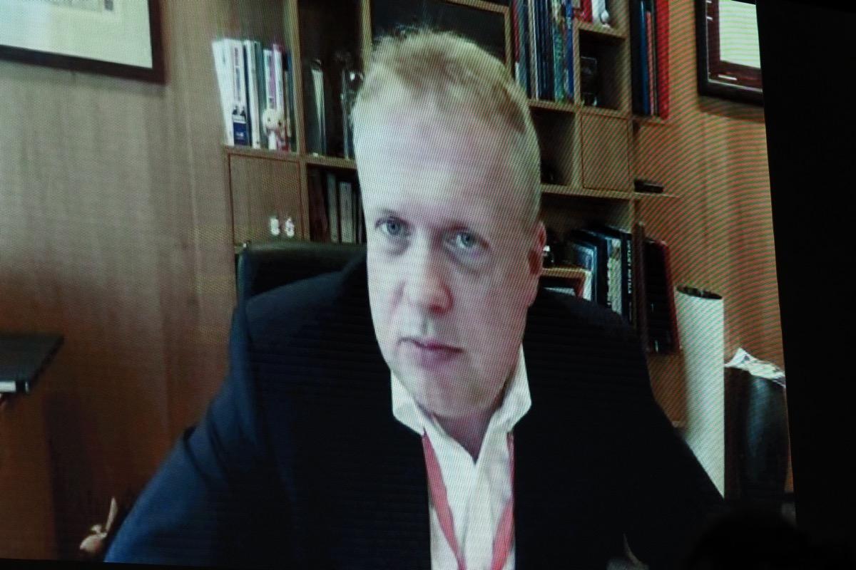 Michał Bolesławski, wiceprezes zarządu ING Banku Śląskiego (fot. PTWP)