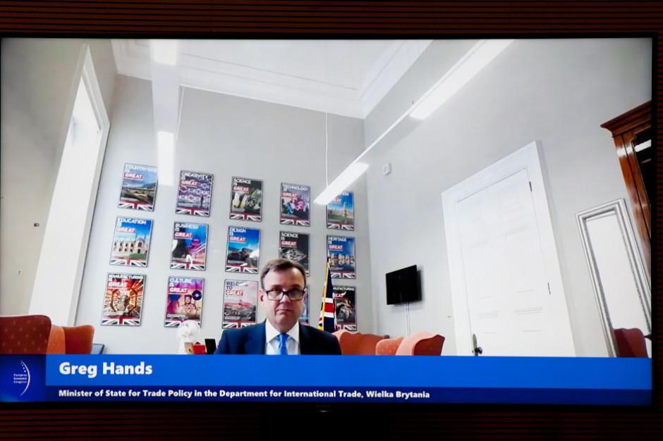 Greg Hands, minister stanu ds. polityki handlowej w brytyjskim Ministerstwie Handlu Międzynarodowego. Fot. PTWP