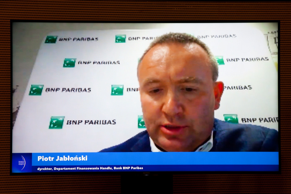 Piotr Jabłoński, dyrektor Departament Finansowania Handlu Bank BNP Paribas. Fot. PTWP