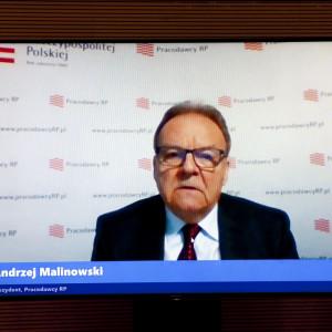 Andrzej Malinowski, prezydent Pracodawców RP Fot. PTWP