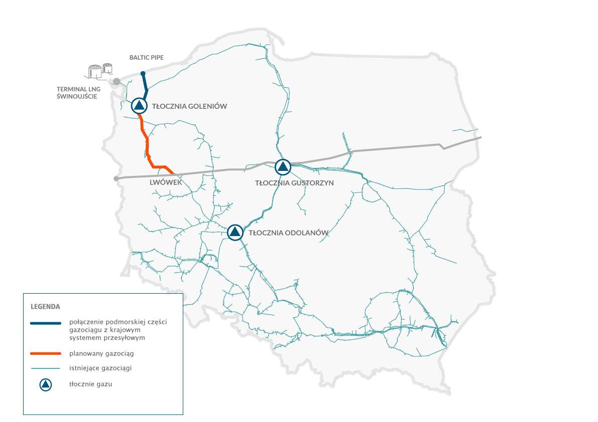 Gazociąg relacji Goleniów-Lwówek będzie realizowany będzie w dwóch etapach: Goleniów-Ciecierzyce (ok. 122 km) oraz Ciecierzyce-Lwówek (ok. 69 km). Fot. Gaz-System