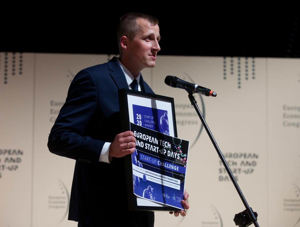 Krzysztof Przybylski podczas Start-up Challenge 2020. Fot. PTWP
