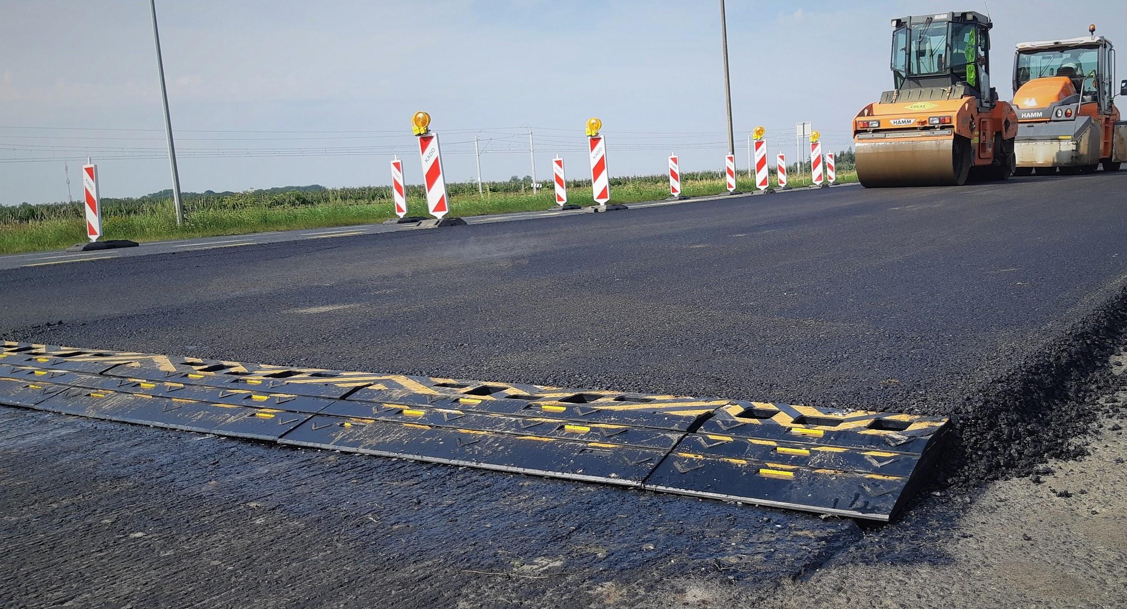 Belka ReBe podczas testów na placu budowy. Fot. KPMP