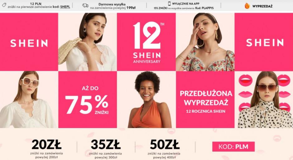 Chińska platforma zakupowa Shein liderem sprzedaży online w sektorze odzieżowym