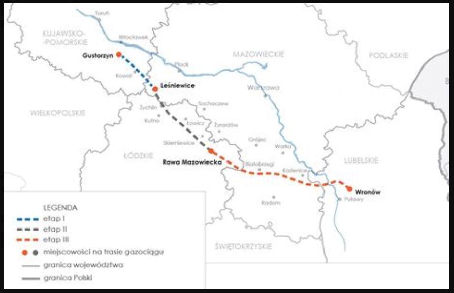 Gazociąg będzie miał około 300 km. długości. Fot. mat. pras.