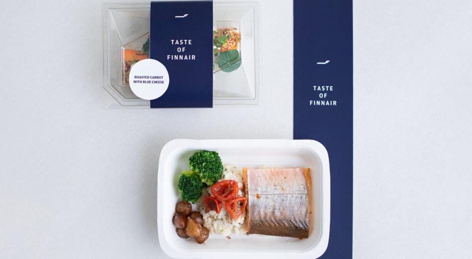 Jedzenie z lotniczej klasy biznes w supermarkecie