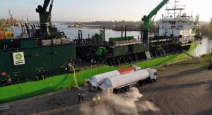 Historyczne bunkrowanie statku gazem LNG w Szczecinie