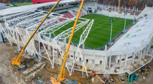 Pandemia nie zatrzymała budowy stadionu ŁKS Łódź