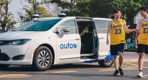 Autonomiczne taksówki na ulicach chińskiego miasta Shenzhen