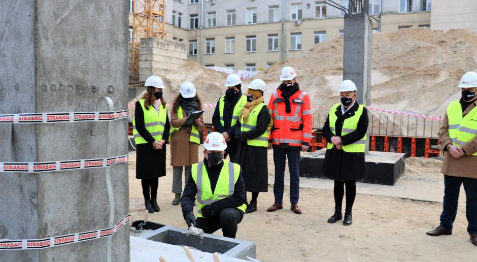 Strabag: kamień węgielny na budowie Szpitala Bielańskiego w Warszawie