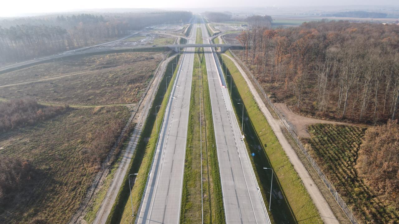 Droga S5 Bydgoszcz Opławiec - Bydgoszcz Błonia. Fot. GDDKiA