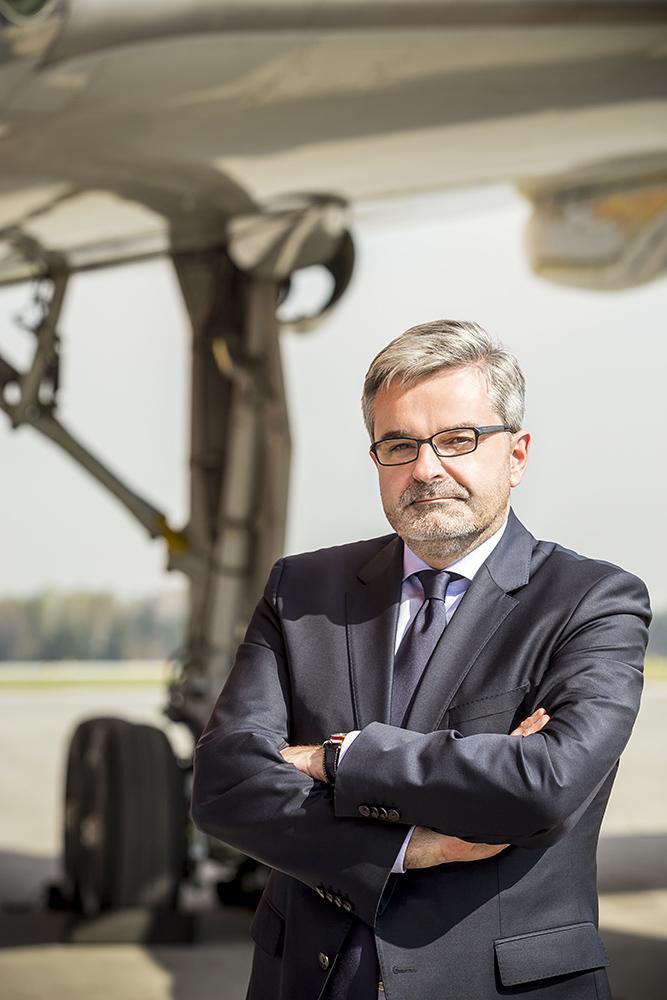 Artur Tomasik, prezes Związku Regionalnych Portów Lotniczych. Fot. Mat. pras.