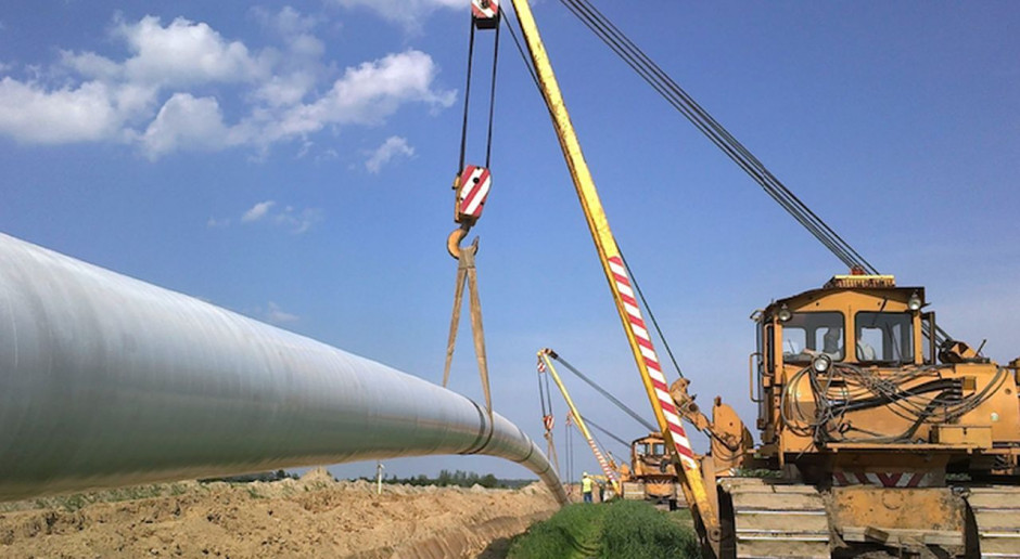 Budowa gazociągu Gustorzyn-Wicko  przy udziale ILF Polska