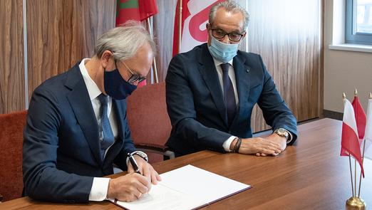 Podpisanie deklaracji o budowie fabryki LUG w Maroku