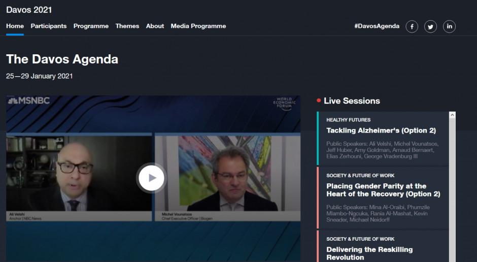 Wystartowało Światowe Forum Ekonomiczne w Davos, po raz pierwszy obraduje wirtualnie