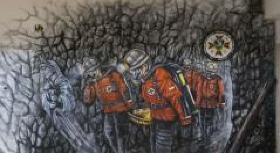 Mural dla ratowników górniczych