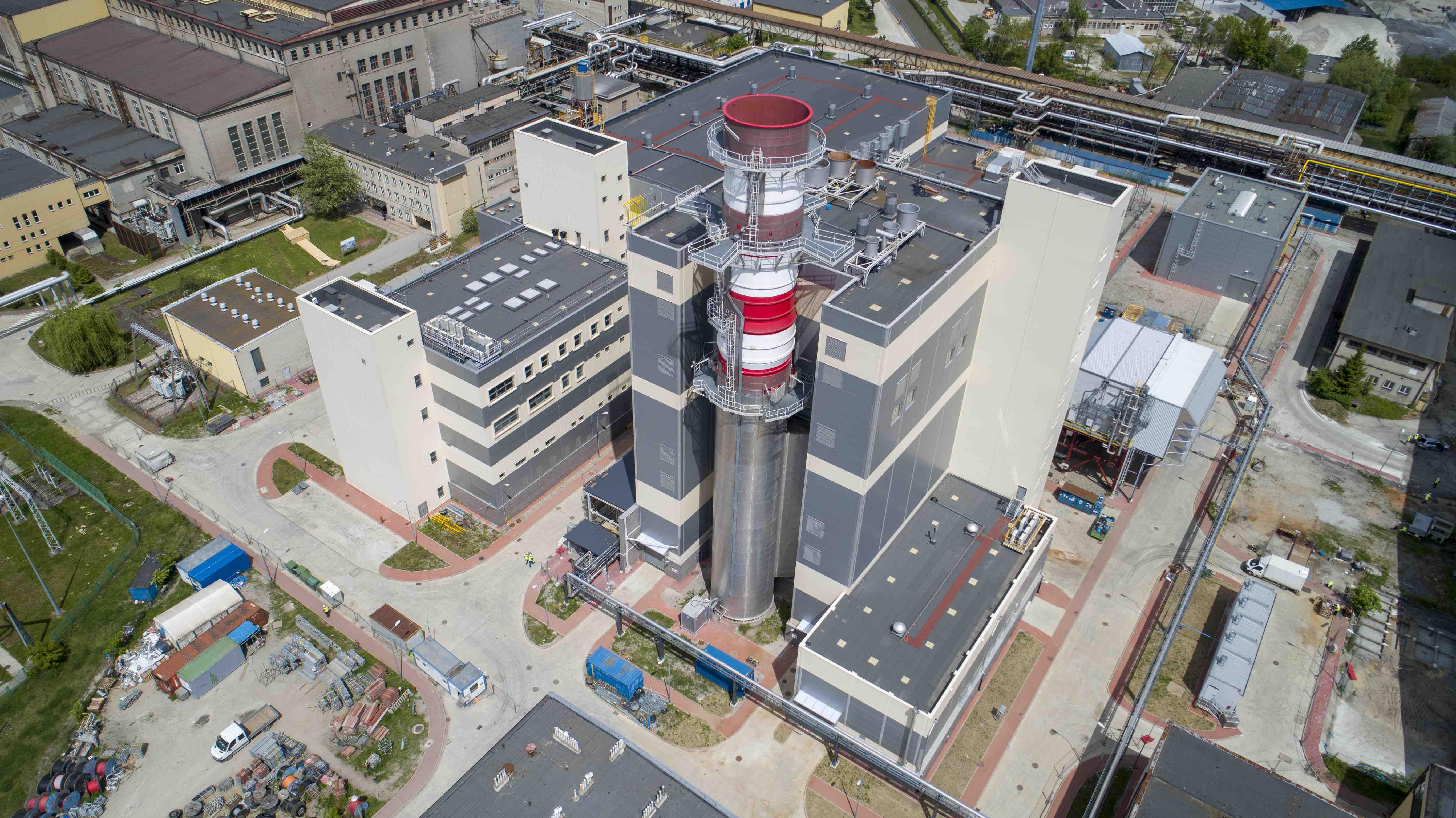 Nowy blok parowo-gazowy w elektrociepłowni Stalowa Wola Grupy Tauron. Fot. Tauron