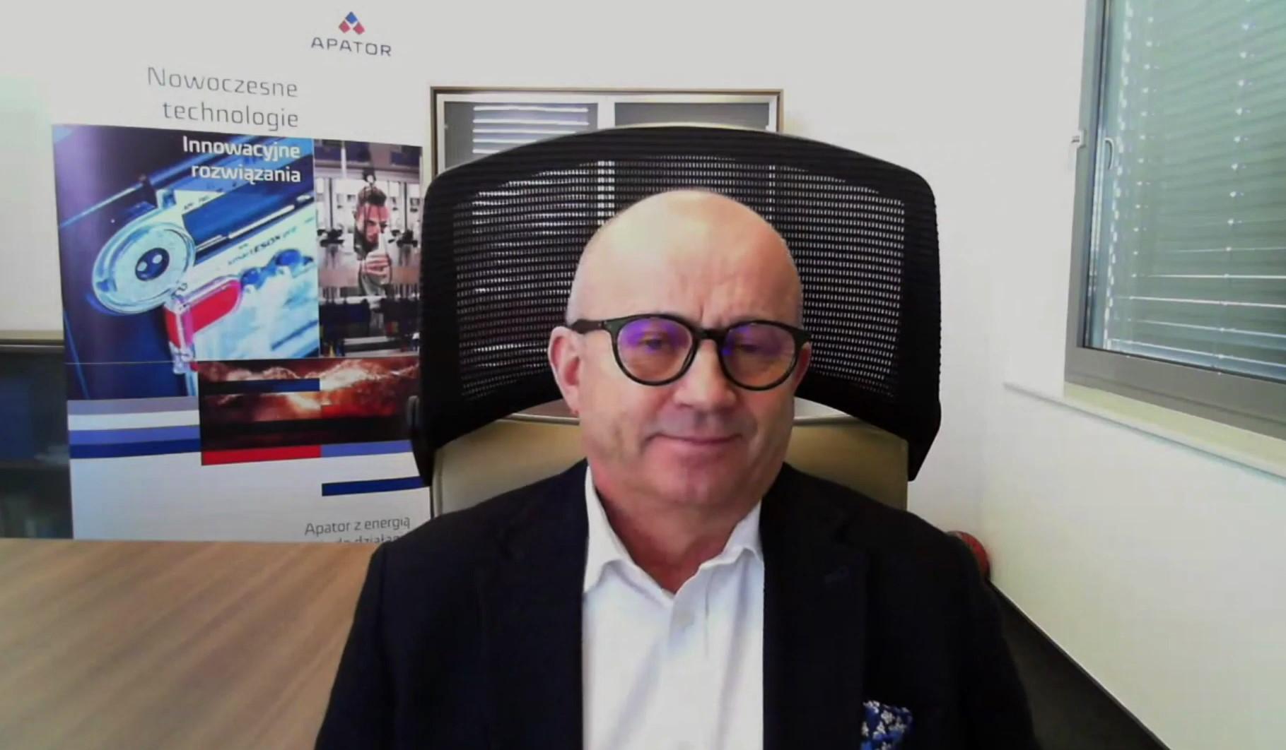 Mirosław Klepacki, prezes i dyrektor generalny spółki Apator.