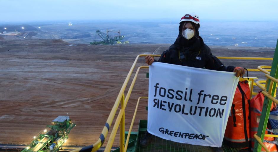 Greenpeace wszedł na teren kopalni węgla brunatnego Turów