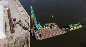 Nabrzeża w porcie Szczecin wzmocni 10 tys. ton stali