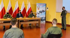 Przygotowanie bazy w Łasku do przyjęcia F-35 tematem spotkania szefa MON z pilotami
