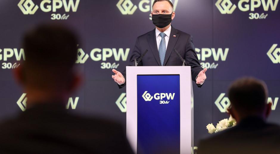 Prezydent: Mamy absolutnie największą giełdę Europy Środkowej