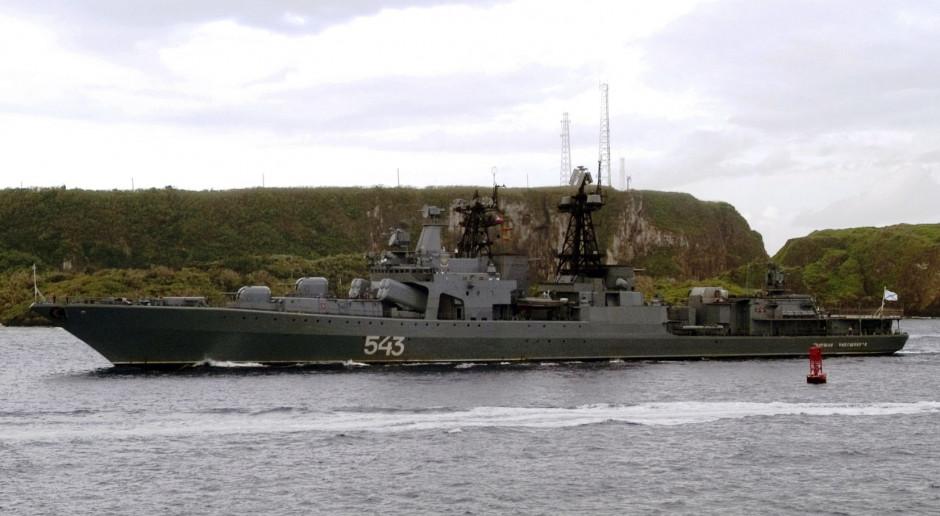 Rosyjski niszczyciel cudem uniknął trafienia przez własną rakietę