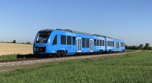 Pociąg wodorowy Alstomu blisko wjazdu do Polski