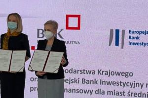 BGK i EBI podpisały umowę na pożyczki dla średnich miast. Pula to 700 mln zł