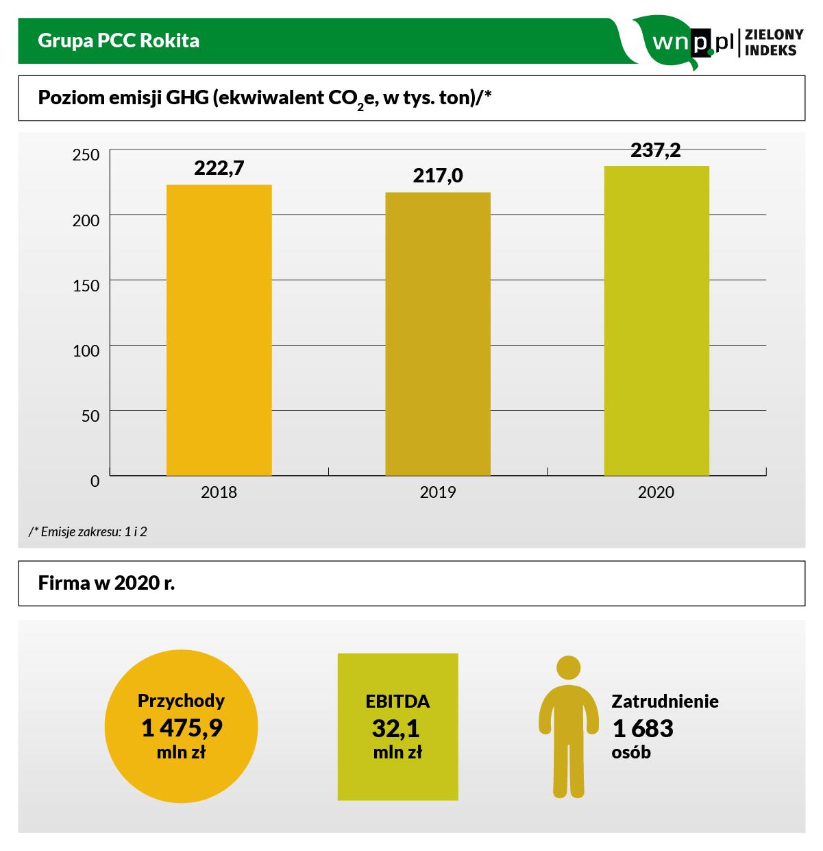 Grupa PCC Rokita w Zielonym Indeksie (infografika: PTWP)