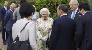 Rodzina królewska gości przywódców G7