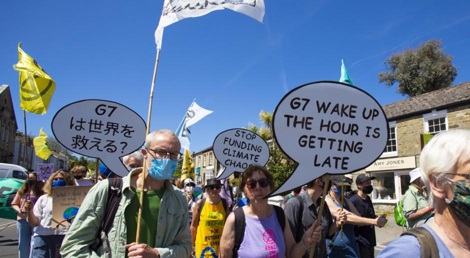 Wielka Brytania: Tysiące osób protestowały przed centrum medialnym szczytu G7