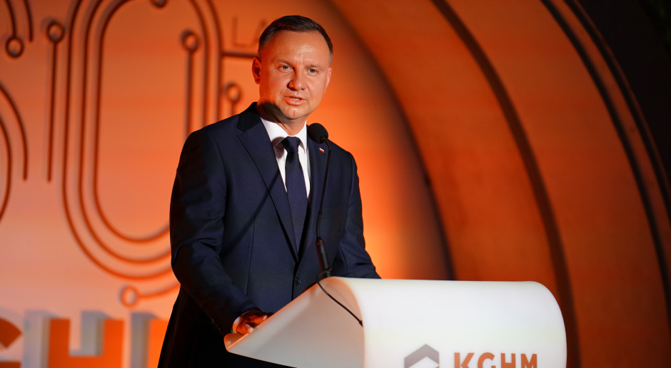 Prezydent: KGHM to jedna z pereł w koronie polskiej gospodarki