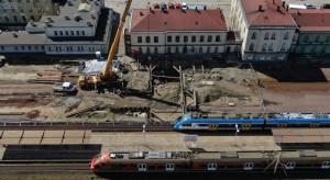 Prace przy węźle czechowickim na półmetku