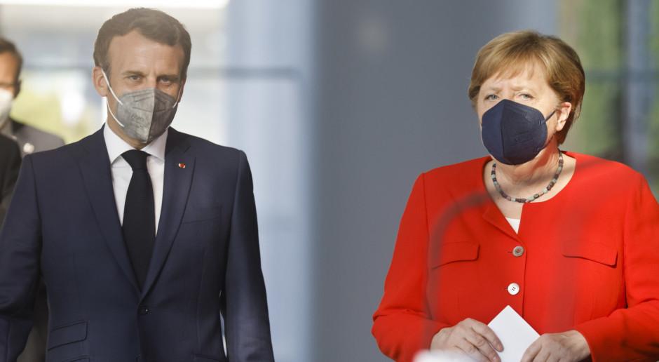 Merkel i Macron apelują o skoordynowanie polityki ponownego otwarcia granic UE