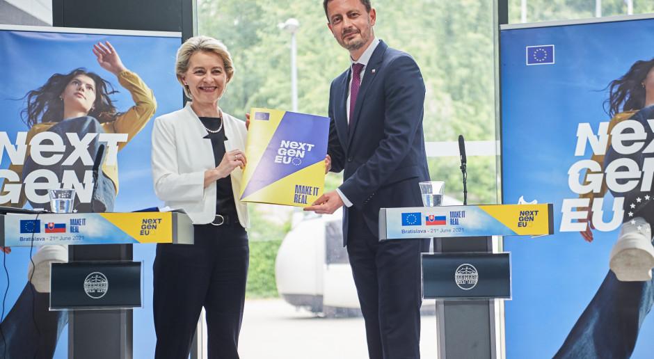 Szefowa KE pozytywnie oceniła Krajowy Plan Odnowy Słowacji