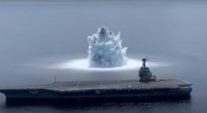 Lotniskowiec USS Gerald R. Ford wytrzymał próbę wybuchu 20-tonowej bomby