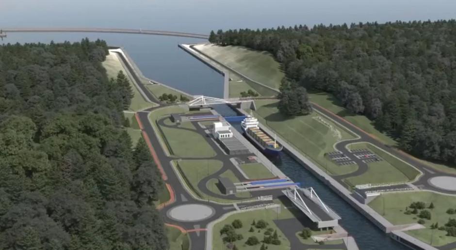 Nowy most nad kanałem żeglugowym przez Mierzeję