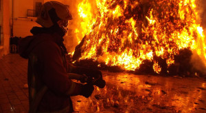 Hala produkcyjna byłego Zachemu stanęła w płomieniach