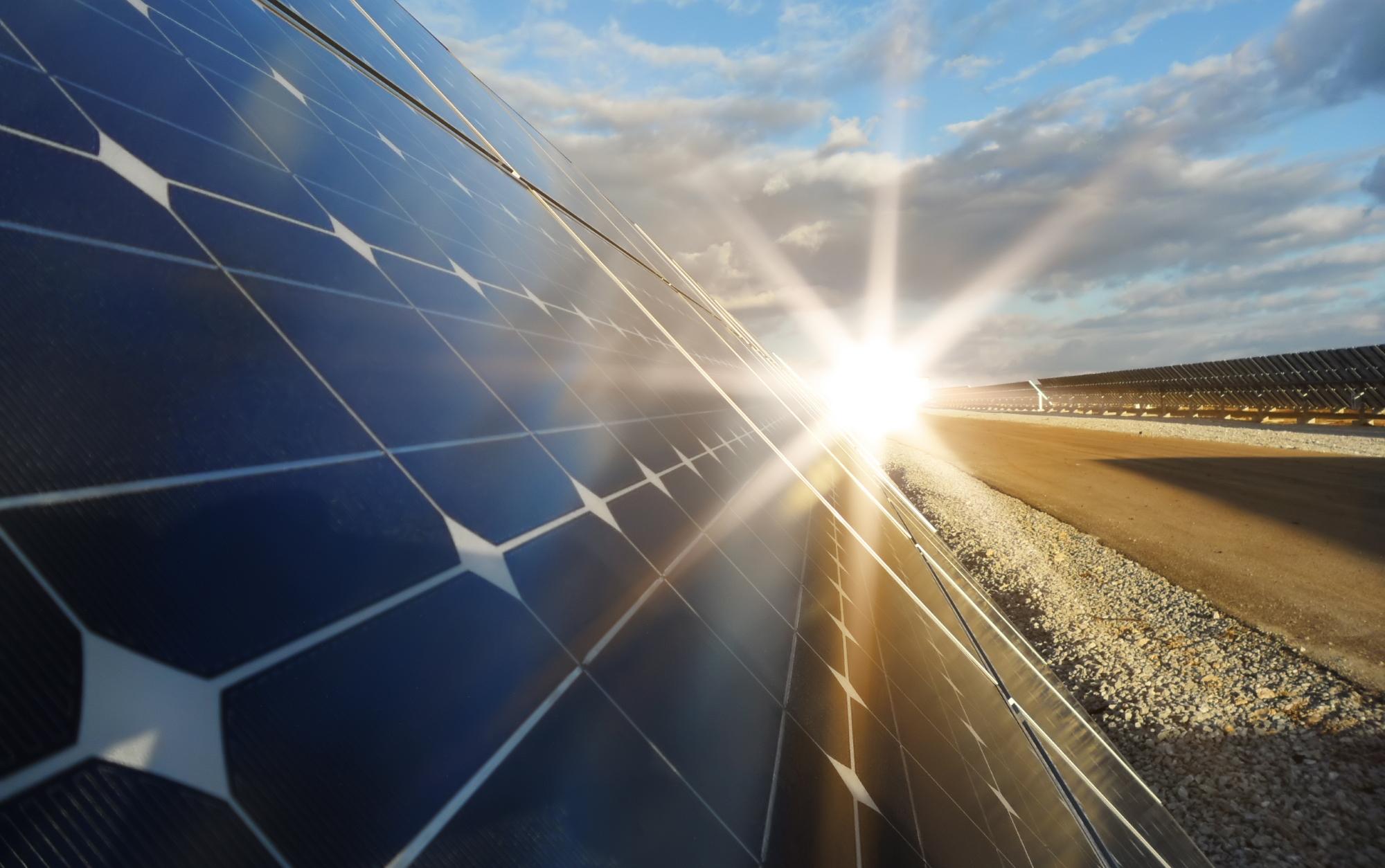 Oprócz energii wiatrowej Kazachstan inwestuje w rozbudowę zespołów paneli słonecznych. Fot. Shutterstock