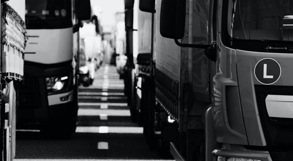 Lubelskie: Długa kolejka tirów do przejścia granicznego w Dorohusku