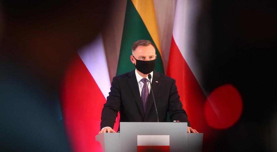 Prezydent Duda: Mam nadzieję, że w ciągu dni czy wręcz godzin pomożemy Litwie w ochronie granic
